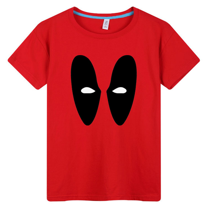 Fashion Deadpool Wade Winston Wilson Costume Printed Summer T-Shirt Tees Cartoon Casual Tee Tops