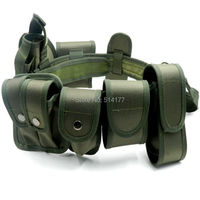 Legergroen Tactische Riem Set Multifunctionele Security Riemen Training Guard Utility Zware Combat Riem Set 10 stks/sets