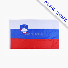 2016 The Slovenia Flag Polyester Flag 5*3 FT 150*90 CM High Quality you Can add brass buckle(leave massage)