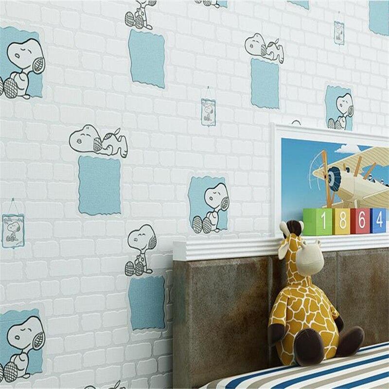 beibehang Cute cartoon children room wallpaper brick foam environmental protection non woven wallpaper for walls 3