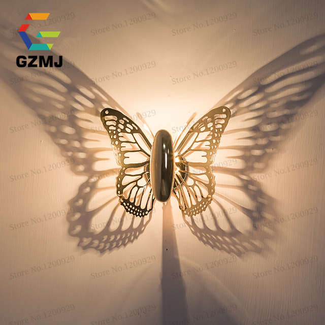 Wall Night Light Target : Aliexpress.com : Buy Butterfly Gold Wall Lamps Indoor Modern Led Lamp Bedroom Wall Lights For ...