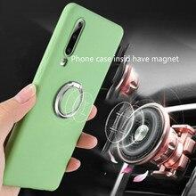 Capas de telefone para huawei p20 lite companheiro 20 lite pro silicone líquido original macio tpu capa fundas capa para p20 p30 pro caso