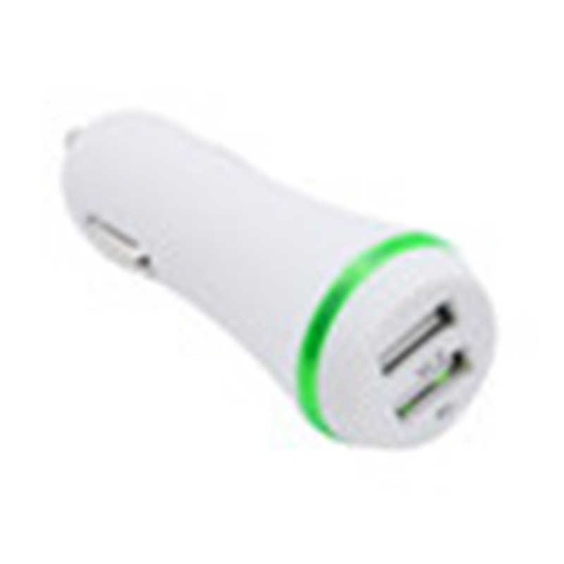 Dual USB Port LED Illuminated Scrub Car Charger for Side Light Vehicle Charger Adapter for Iphone 8/8 Plus 19Mar5