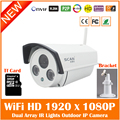 HD 1080 P Bala Cámara IP Blanco Wifi 2mp Wireless Seurveillance Seguridad Al Aire Libre CMOS de Visión Nocturna Por Infrarrojos Freeshipping Caliente