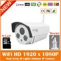HD 1080 P Bala Câmera IP Wi-fi 2mp Sem Fio Branco Seurveillance Segurança Ao Ar Livre CMOS Infravermelho Night Vision Freeshipping Hot