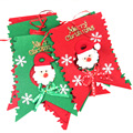 Novelty Funny Christmas Toys 6pcs/ Set Non-woven Fabric Santa Claus Pattern Toys