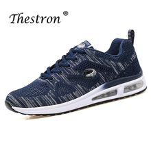 Luxury Walking Shoes for Men Mid-Top Casual Fashion Lovers Youth Sneakers Blue Black  Autumn Designer Man