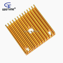 10pcs/lot Gdstime 40x40x11mm Heatsink Aluminum Extruded Gloden Heat sink 40mm for 3D Printer