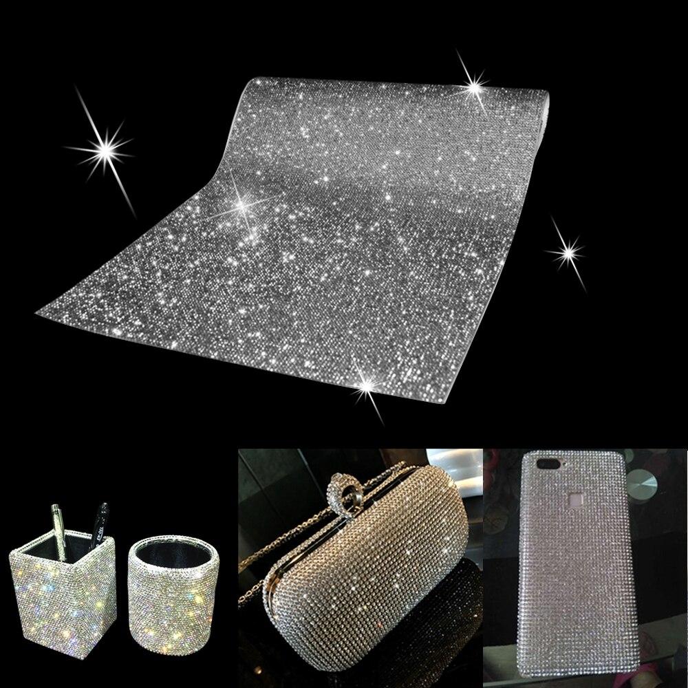 Folha de Adesivo de strass Strass Guarnição De Cristal Adesivos Applique Frisado Embelezamento DIY Decoração Auto Adesivo de Carro Tablet
