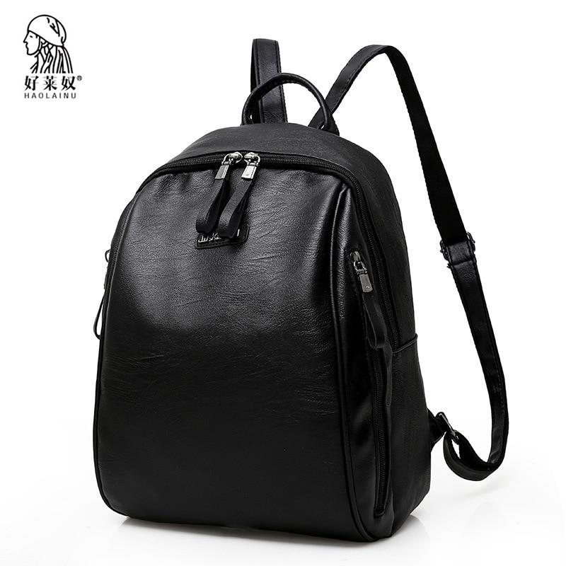Fashion Women Backpacks High Quality Women's PU Leather Backpacks Female School Shoulder Bags For Teenage Girls Travel Back Pack