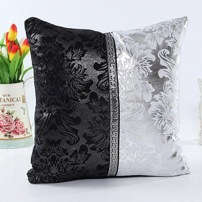 White Leather Throw Pillow : Festival Handmade Vintage 45cm x 45cm Black White Leather Cover Throw Pillow Case 4 Colors - us431