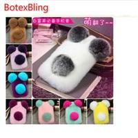 I6 6s Luxury Panda Rabbit Fur Case For IPhone 6 6s 6Plus 5 5s SE Cute