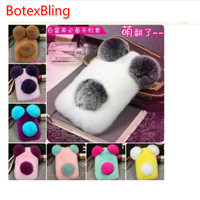 I6 6s Luxury Panda Rabbit Fur Case For IPhone 6 6s 6Plus 5 5s SE Cute