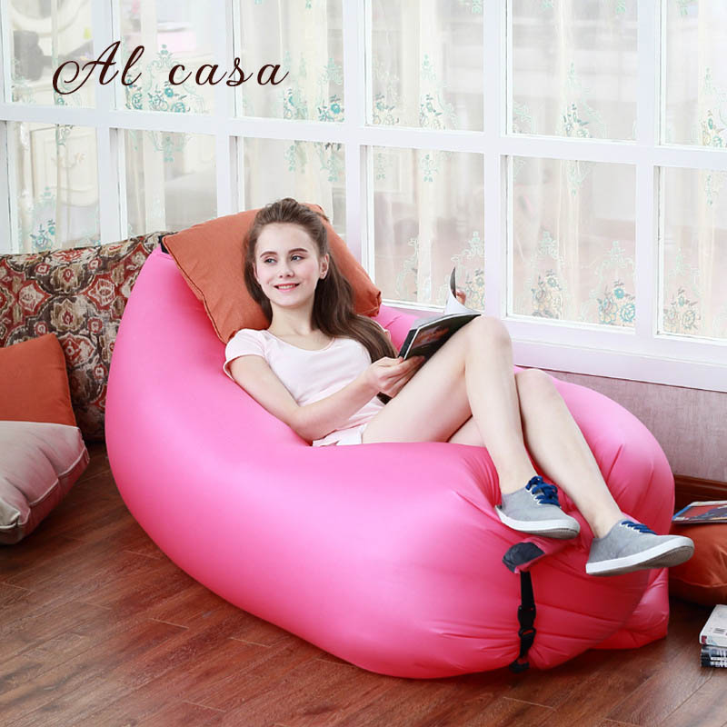 Lazy Sofa Chair, Living Room Bean Bag Cushion, Outdoor Self Inflated Beanbag Lounge Sleep Bag Furniture free shipping levmoon beanbag sofa chair british fashion seat zac comfort bean bag bed cover without filler cotton indoor beanbag lounge chair
