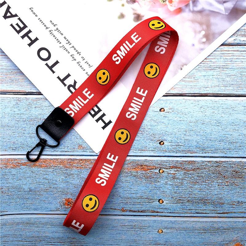 Lanyard For Keys Phone Cord Strap Keychain On The Phone Keychain For Phone Neck Strap Smile Lanyard Neck Strap