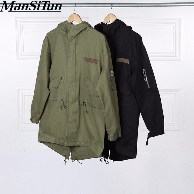 Man Si Tun Newest Mens Jacket Coats Clothing Korean Men Winter Clothes Militaire Fall Long Army Military M51 Jacket Windbreaker