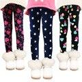 Otoño invierno Caliente Gruesa de impresión Leggings Pantalones de Los Niños Pantalones de Las Muchachas