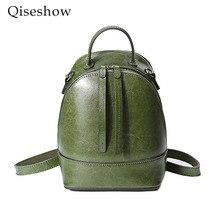 2017 натуральная кожа рюкзак женщины сумка масло Воск Корова кожа старинные рюкзаки женские Back Pack Повседневный Школа женская сумка