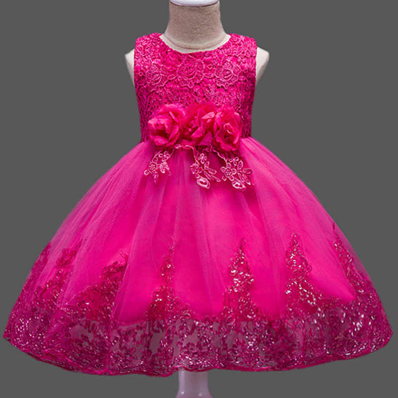 2aff5d041585 ... Lace Sequins Formal Evening Wedding Gown Tutu Princess Dress Flower  Girls Children Clothing Kids Party Dress ...