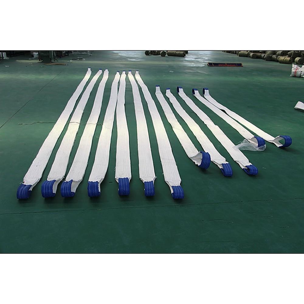 3T 2/4/6M White Flat Lifting Webbing Sling High Strength Hoisting Belt  Cargo Hoisting Strap -  1 Pcs