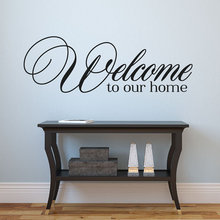 Welcome to our home Wall Stickers Lettering Vinyl Wall Decal Mural Home Decor Art home decoration(China)