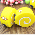 1 pcs Jumbo 10CM Squishy Despicable Me Minions Cake Roll Soft Key Chains Bread Scented Cellphone Charm Strap 3.5mm dust Plug