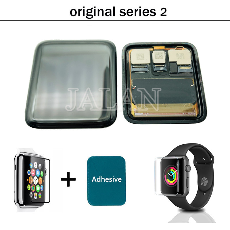 Ori quality lcd For <font><b>apple</b></font> <font><b>watch</b></font> Series <font><b>3</b></font> 38mm/<font><b>42mm</b></font> GPS/LTE Digitizer Pantalla <font><b>replacement</b></font> with Tempered glass and frame adhesive image