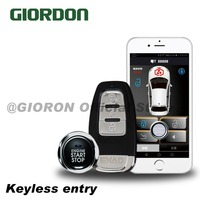 PKE keyless entry key activated anti theft system with engine lock/mobile phone remote start/remote opening trunk function