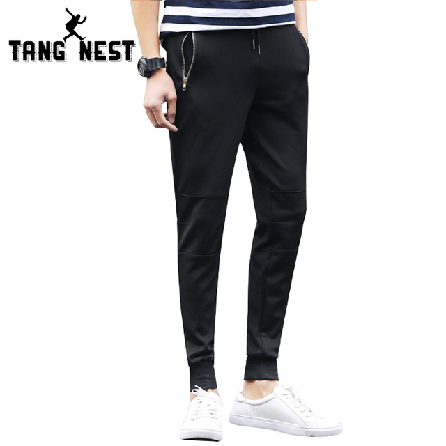 TANGNEST Full-length Spring & Autumn 2017 New Design Men's Harem Pants Loose Soft Casual Fashionable Male Pants MKY239