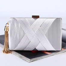 ONEFULL pure handmade tassel pendant dinner evening party handbag  big capacity clutch high grade silk hand bag brand