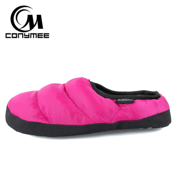 Winter Fur Slippers Woman Down-cotton Indoor Shoes Pantufa Men Women Casual Home Sneakers Warm Slipper Big Size Shoe Terlik 2