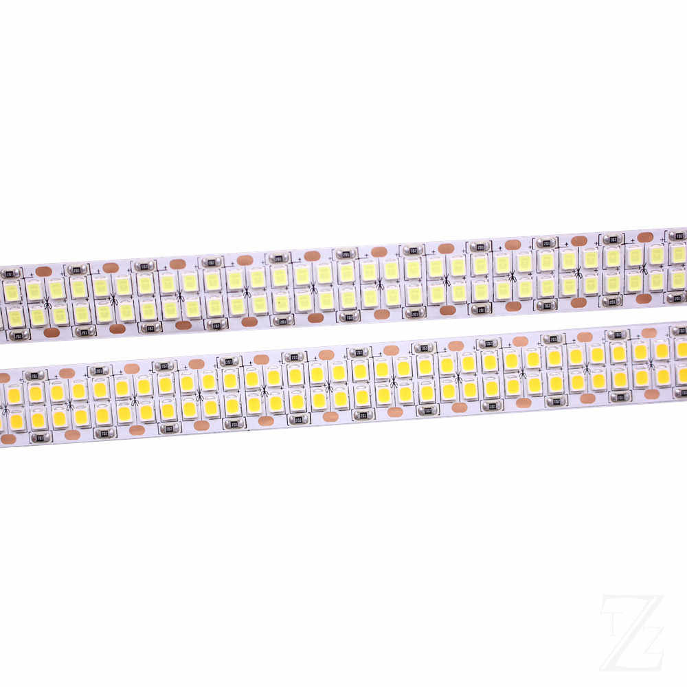 1/2/3/4/5 M 240 Leds/M 480 Leds/M 12 V 24 V 2835 LED Strip Tape Light Double Row IP20 Putih/Warm 1200led/5 M 2400 Leds /5 M