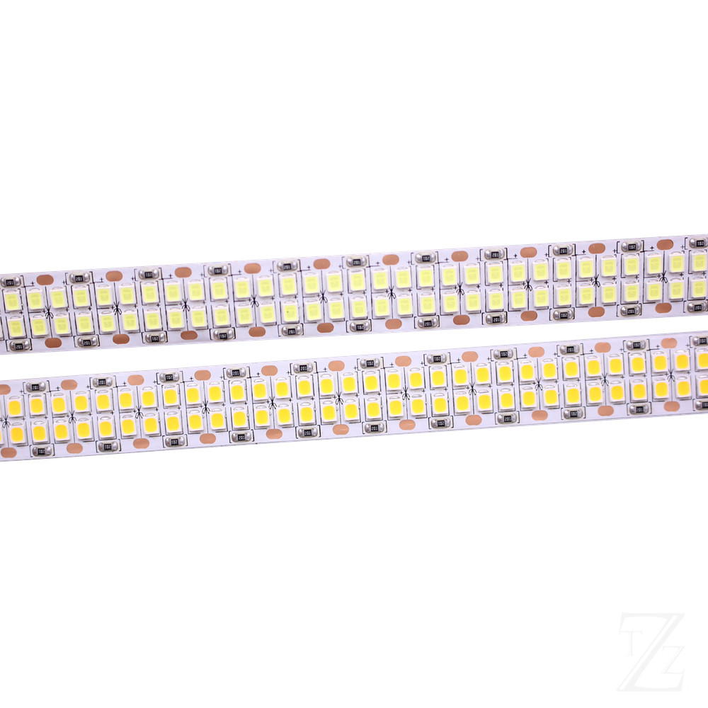 1 2 3 4 5M 240leds m 480leds M 12V 24V 2835 LED Strip tape light double row IP20  White Warm White 1200led 5m 2400leds 5m