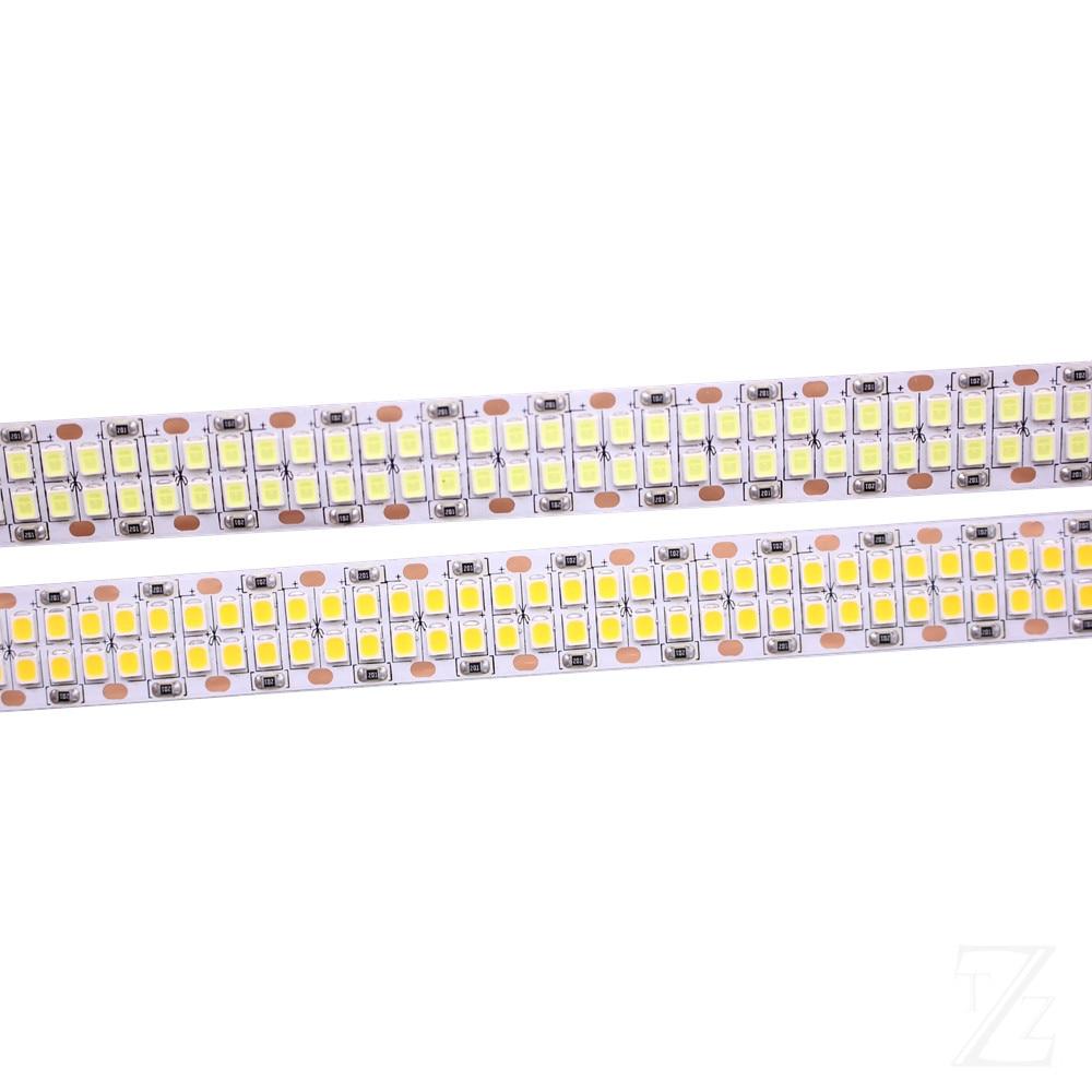 1/2/3/4/5M 240leds/m 480leds/M 12V 24V 2835 LED Strip Tape Light Double Row IP20  White/Warm White 1200led/5m 2400leds/5m