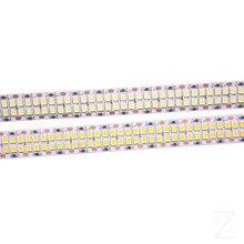 1/2/3/4/5M 240leds/m 480leds/M 12V 24V 2835 LED şerit bant ışık çift sıralı IP20 beyaz/sıcak beyaz 1200led/5m 2400leds/5m