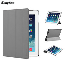 Case for iPad 2 3 4, Easyacc candy Color PU Transparent Back Ultra Slim Light Weight Trifold Smart Cover 2/3/4