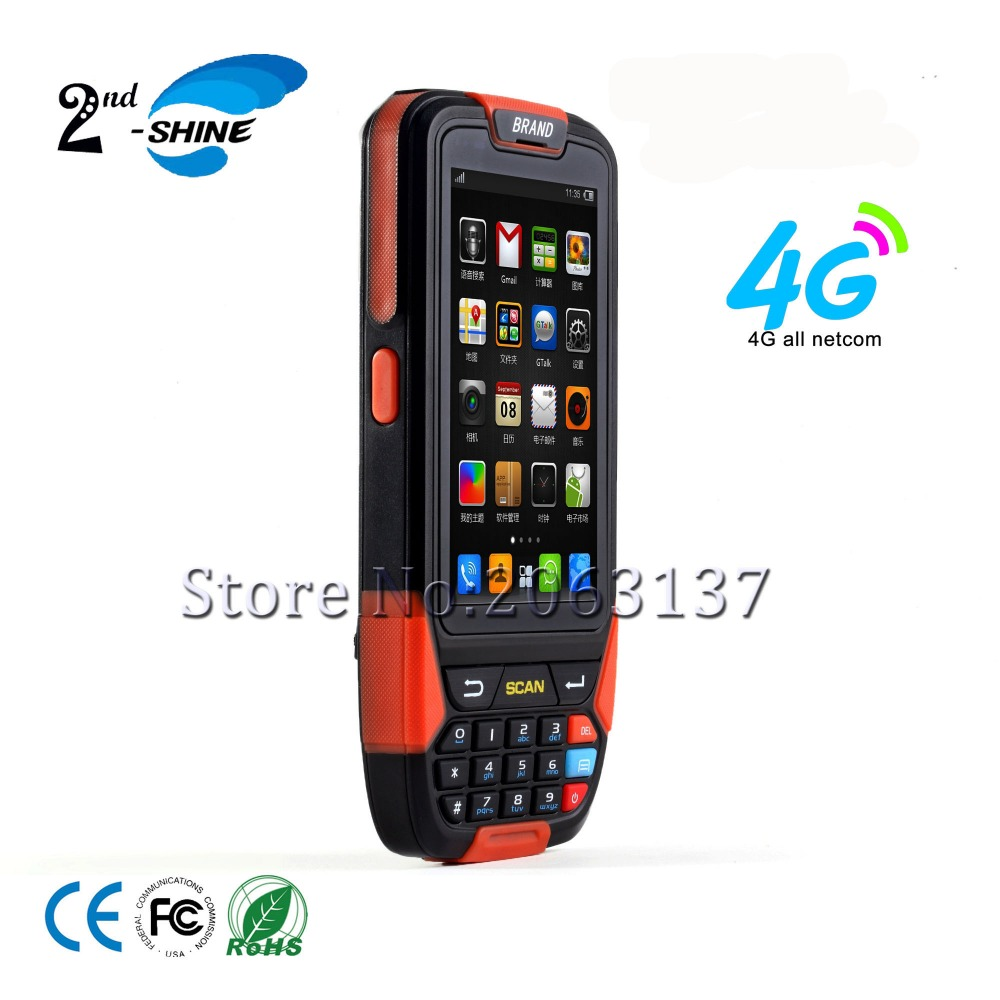 High quality Outdoor Waterproof Rugged Handheld Android barcode scanner wifi 3g