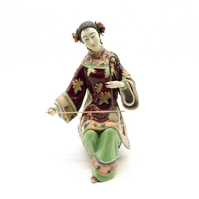 Promotion Ceramic Statue Marvel Female Sculpture Chinese Antique Imitation Collectible Porcelain Dolls Christmas Decoration
