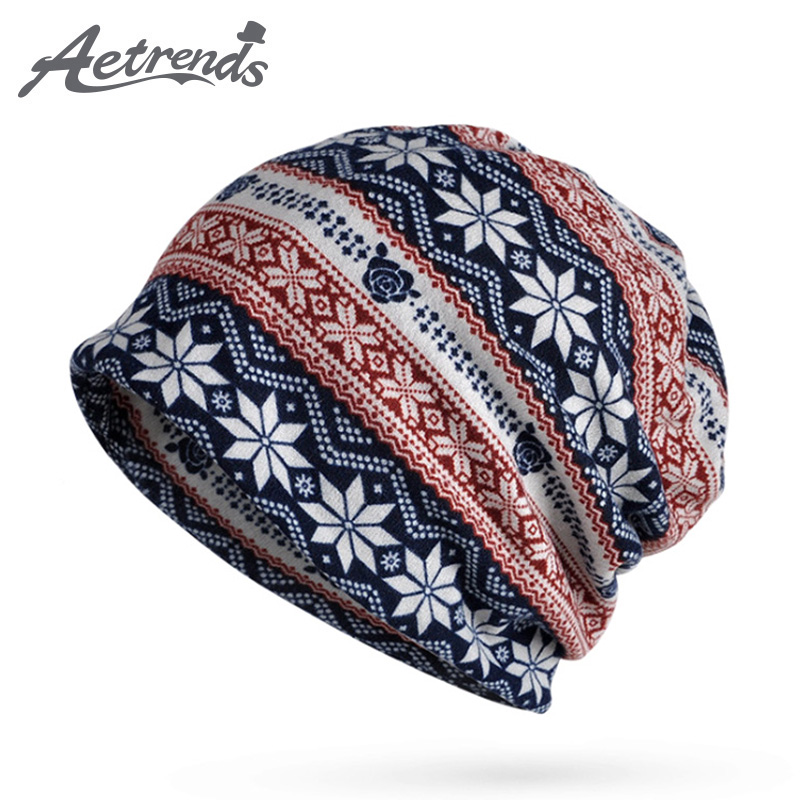 [AETRENDS] 2017 New Winter Multi Function Cap Collar Scarf Men Women   Skullies     Beanies   Knitting Caps Bonnet Hat Z-5876