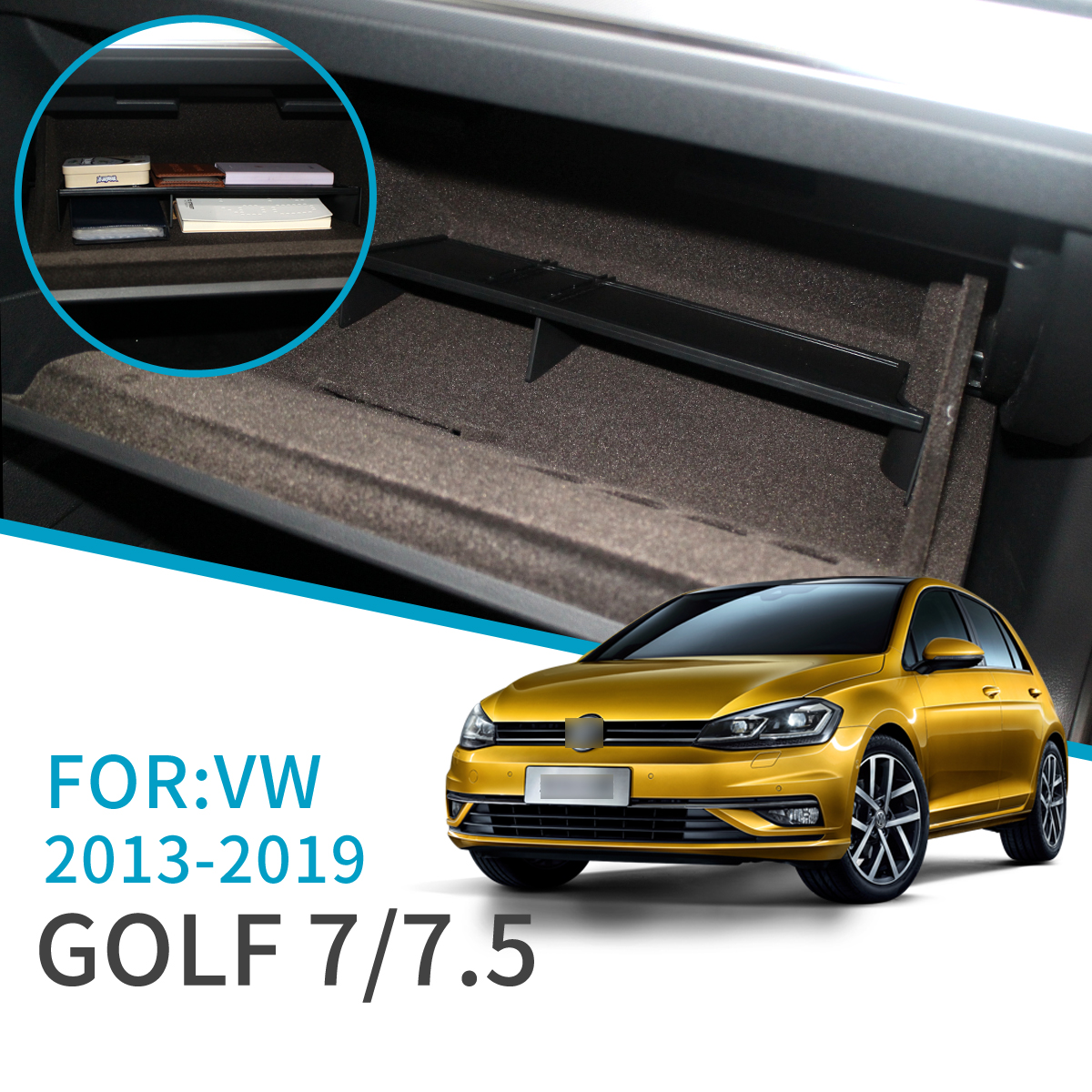 Smabee Car Glove Box Interval Storage For Volkswagen Golf 7 MK7 2013 ~ 2019 Accessories Console Tidying Central Storage Box 2019