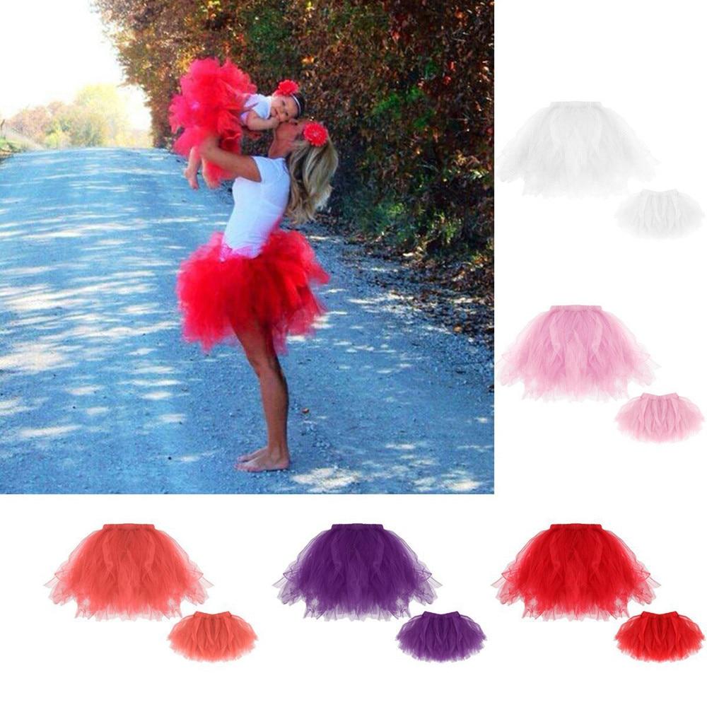 Горячий продукт мама & me высокое качество плиссированные юбки Балетные костюмы Юбки для женщин фантазии вечерние юбка высокая эластичность...