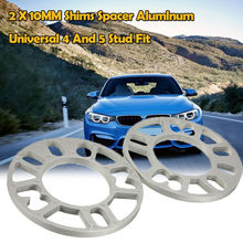 2PCS Universal Alloy Aluminum 10mm Wheel Spacer Shims Plate 4 5 STUD For 4x100 4x114.3 5x100 5x108 5x114.3 5x120(China)