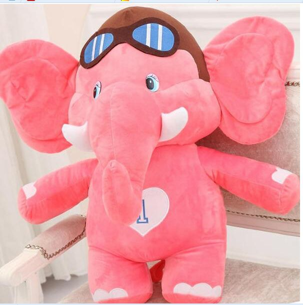 middle lovely plush elephant toy cartoon pink flying elephant doll gift about 45cm 0226 big creative plush elephant toy lovely stuffed jungle elephant gift doll about 80cm