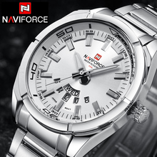 NAVIFORCE Top Luxury Brand Men Sports Watches Men's Quartz Clock Man Stainless Steel Army Military Wrist Watch