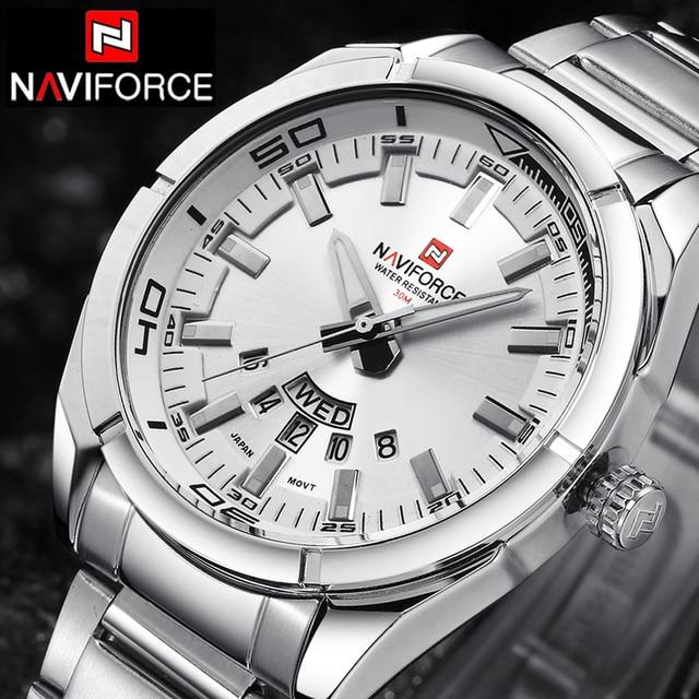 NAVIFORCE Top Luxury Brand Men Sports Watches Men's Quartz Clock Man Stainless S