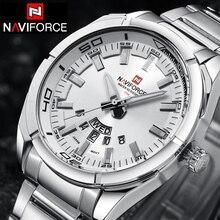 NAVIFORCE Top Marca de Lujo de Los Hombres Relojes Deportivos reloj de Cuarzo Reloj de Hombre de Acero Inoxidable de Los Hombres Del Ejército Militar Reloj de Pulsera Relogio masculino