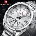 NAVIFORCE Top Marca de Luxo Homens Esportes Relógios Homem do Relógio de Quartzo do Aço Inoxidável dos homens Do Exército Militar Relógio de Pulso Relogio masculino
