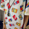 2017 summer korean can print roupa tee shirt femme clothes for women female tshirts tumblr poleras camisetas mujer t-shirt