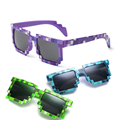 Deal with it Boys Girls Minecraft Glasses 8 bit Pixel Men Sunglasses Female Male Mosaic Sun Glasses Men's Women's child Glasses