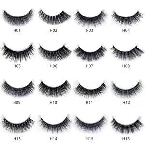 Image 2 - 100boxes 3D Mink Hair Natural Cross False Eyelashes Long Messy Makeup Fake Eye Lashes Extension Make Up Beauty Tools maquiagem